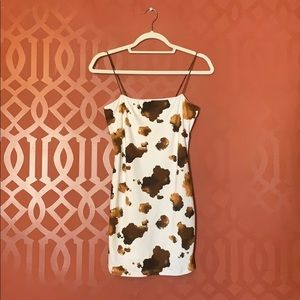 Honey Punch Cow Print Dress from Topshop